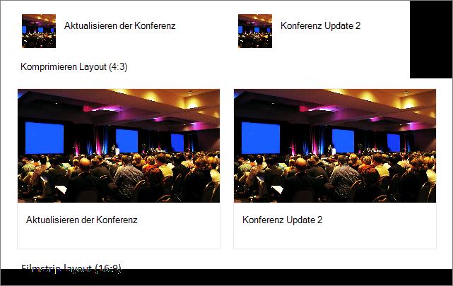 Beispiele für Bilder in QuickLink-Layouts
