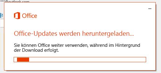 Dialogfeld zum Herunterladen von Office-Updates