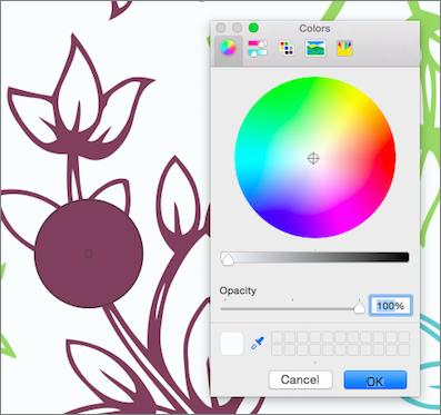 Pipette Farbenvorschau