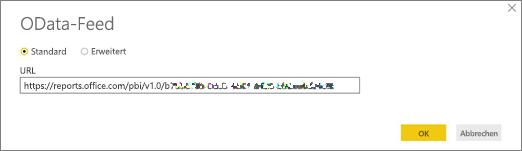 OData-Feed-URL für Power BI Desktop