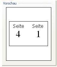 """Vorschau der Druckereinrichtung für """"Broschüre"""""""