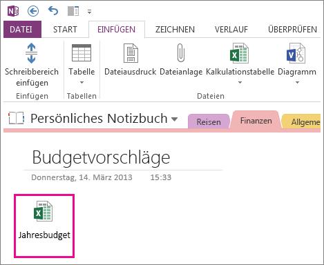 Hinzufügen einer vorhandenen Excel-Datei