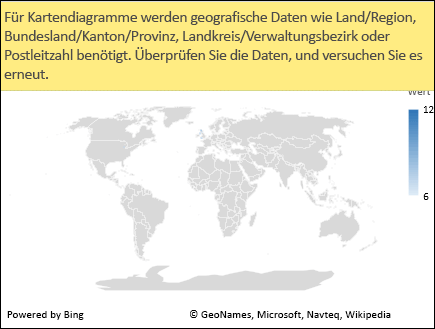 Excel-Kartendiagramm mit mehrdeutigen Daten
