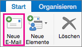 """Schaltfläche """"Neue E-Mail"""""""