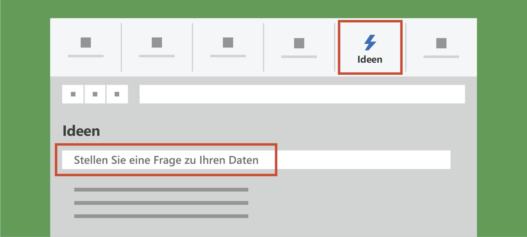 Zeigt Ideen in Excel