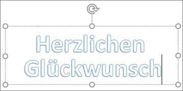 WordArt mit benutzerdefiniertem Text