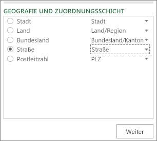 'Geografie und Zuordnungsschicht' im Aufgabenbereich