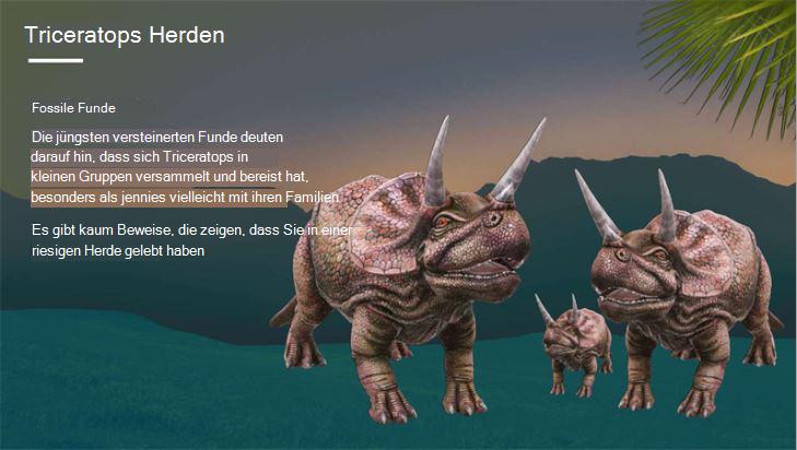 Screenshot der Abdeckung eines Berichts über die Triceratops