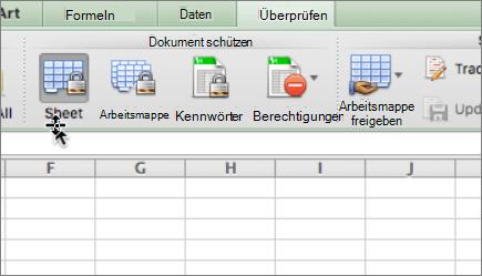 Schützen eines Arbeitsblatts in Mac - Excel for Mac