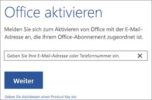 """Zeigt das Dialogfeld """"Aktivieren"""" an, in dem Sie sich anmelden können, um Office zu aktivieren."""