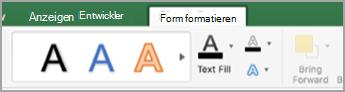 "Registerkarte ""Formformatierung"""