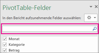 "Suchfeld im Feld ""PivotTable-Feld"""