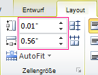Festlegen der Höhe und Breite einer Tabellenzelle