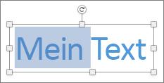 Markieren von Text