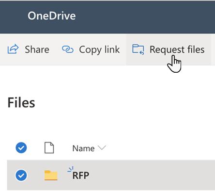 Benutzeroberfläche zum Anfordern von Dateien