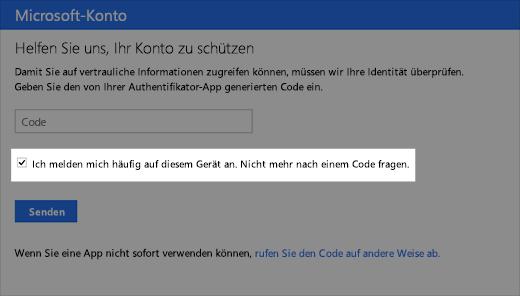 "Screenshot des Dialogfelds ""vertrauenswürdiges Gerät"""