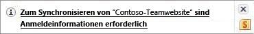 Synchronisierungsbenachrichtigungen im Benachrichtigungsbereich von Windows