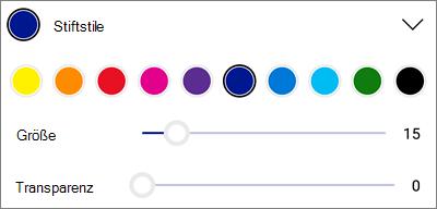 OneDrive für Android-PDF-Markup Stiftformat Vorlagen