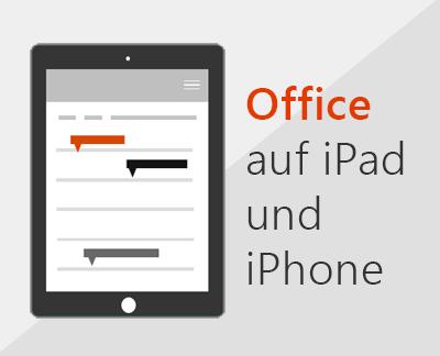 Klicken, um Office-Apps unter iOS einzurichten