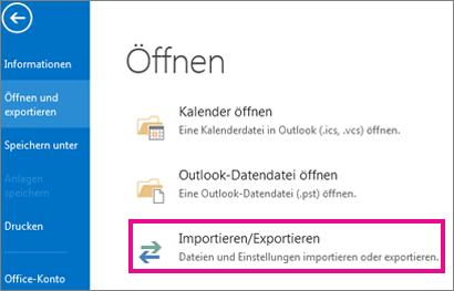 Dateiexport