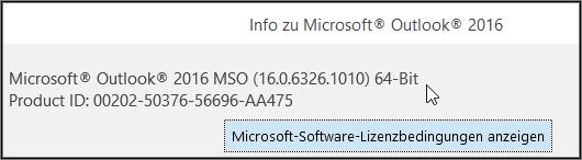 Am oberen Rand des Felds ist die 32-Bit- oder 64-Bit-Version angegeben.