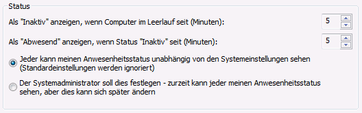 Datenschutzstatus
