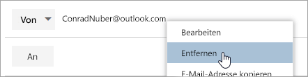 "Screenshot der Option ""entfernen"""