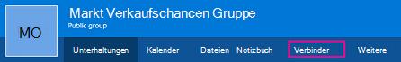 """Option """"Verbinder"""" auf dem Menüband """"Gruppen"""""""