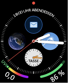 Apple Watch Face mit e-Mail-Symbol