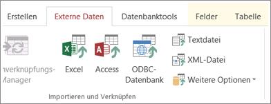"""Access-Registerkarte """"Externe Daten"""""""