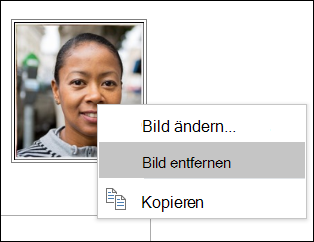 Sie können ändern oder entfernen das Bild des Kontakte.