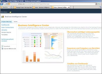 Business Intelligence Center-Website in SharePoint Server 2010