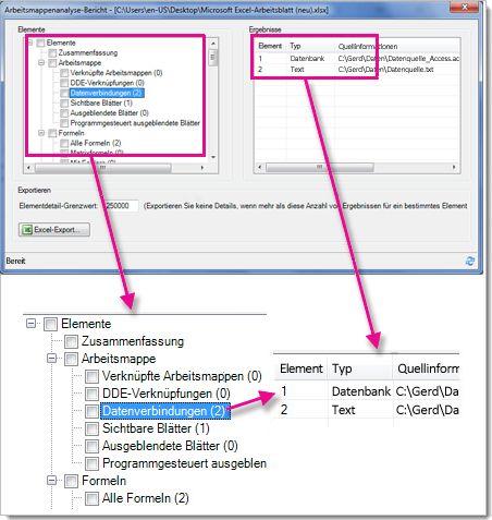 Mögliche Aktionen mit der Kalkulationstabelle in Excel für Windows ...