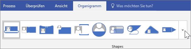 Screenshot der Organigramm-Symbolleiste