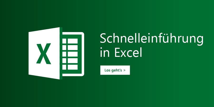 Vorlage für eine Einführungstour für Excel