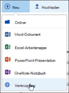 Hinzufügen eines Links zu einer Dokumentbibliothek