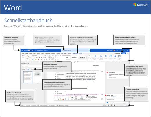 Word 2016 – Schnellstarthandbuch (Windows)