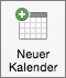 """Schaltfläche """"Neuer Kalender"""" in Outlook 2016 für Mac"""