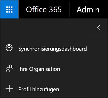 """Screenshot der Option """"Profil hinzufügen"""" im Menü von School Data Sync"""
