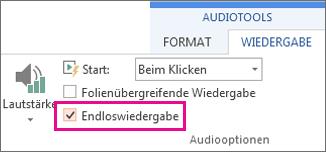 Endloswiedergabe von Audio
