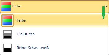 """Farboptionen im Dialogfeld """"Drucken"""""""