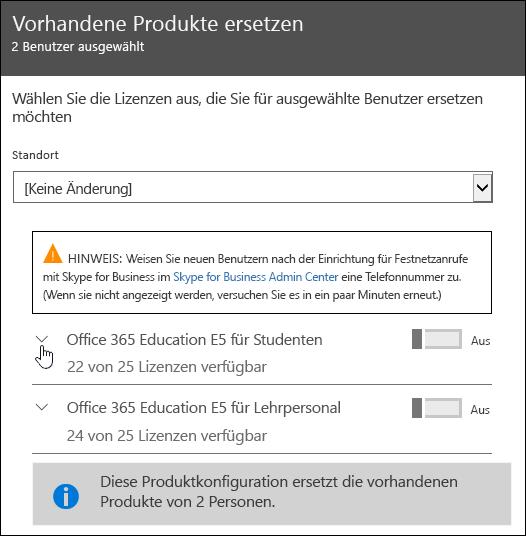 Erweitern Sie die Lizenz, um das Feature Microsoft Forms anzuzeigen.