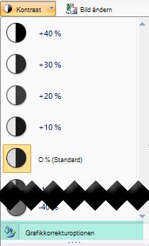 Um die Kontrast Höhe zu optimieren, wählen Sie Optionen für Bildkorrekturen aus.