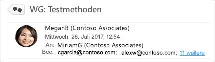 """Anzeigen der Bcc-Empfänger im Ordner """"Gesendet"""""""