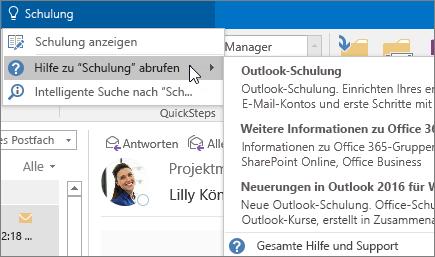 """Tool """"Sie wünschen"""" in Outlook"""