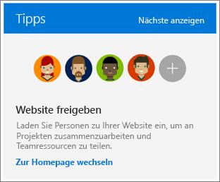 """Feld """"Tipps"""" der Seite """"Websiteinhalte"""""""