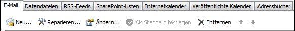 Outlook 2010 – Neues Konto hinzufügen