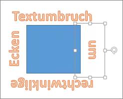 Hinzufügen von WordArt um eine Form mit geraden Kanten
