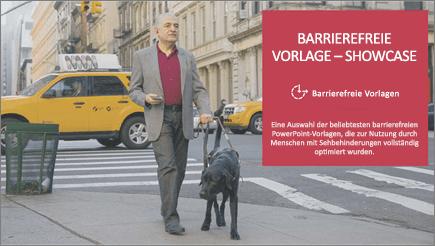 Sehbehinderter Mann mit einem Blindenhund