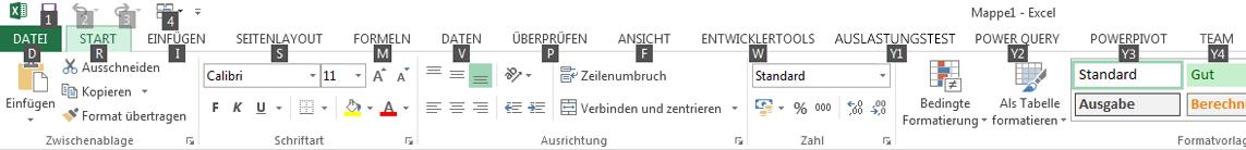 """Zugriffstasteninfos für die Funktion """"Suchen"""" des Menübands """"Power Query"""""""